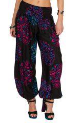 Pantalon coloré bouffant coupe large et imprimé Adaline 294898