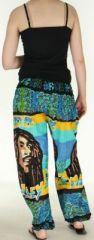Pantalon coloré et imprimé à poches fantaisie Bob Marley Reggae 2 273060