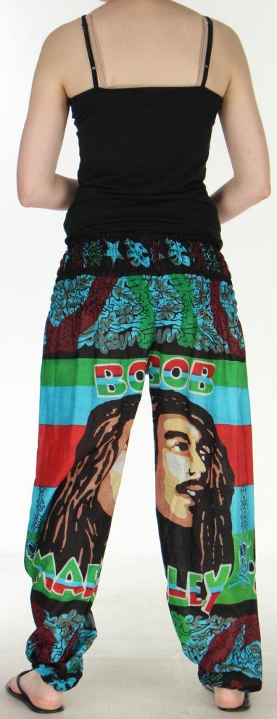 Pantalon coloré et imprimé à poches fantaisie Bob Marley Reggae 3 273062