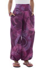 Pantalon coloré fantaisie coupe droite smocké au dos Perla 294625