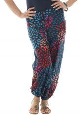 Pantalon coloré grande taille fluide en coton Perla 293592