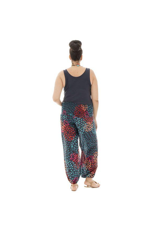 Pantalon coloré grande taille fluide en coton Perla