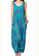 Pantalon combi-sarouel femme originale exotique floral Aida