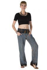 Pantalon coupe droite imprimés tie & die gris texas 288369