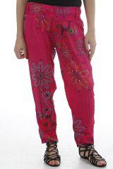 Pantalon coupe droite pour femme coloré et ethnique Samuel 311750