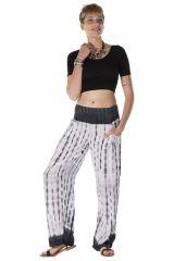 Pantalon coupe droite tie & die blanc Arizona 288371