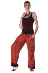 Pantalon coupe droite tie & die rouge flamboyant Michigan 288373