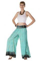 Pantalon coupe large évasée turquoise Antigone 288409