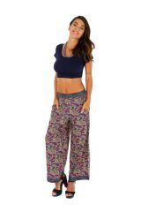 Pantalon coupe large imprimé et coloré pour femme Bonnie