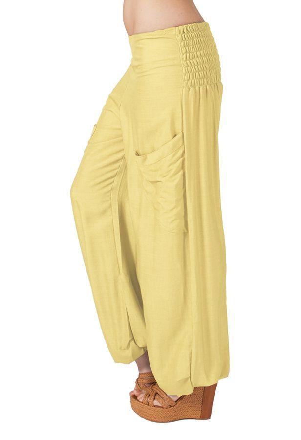 Pantalon crème pour femme fluide et très agréable Cédric 314298