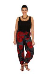 Pantalon d'été ample et imprimé Bayka en grande taille 309748