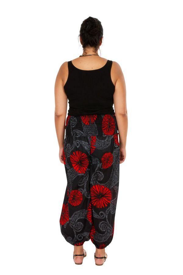 Pantalon d'été ample et imprimé Bayka en grande taille 309749
