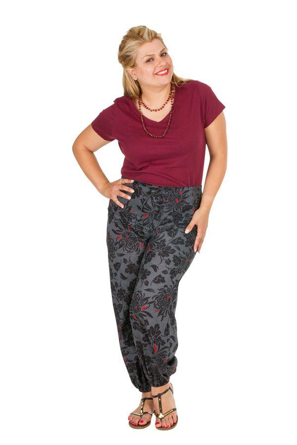 Pantalon d'été ample pour femme grande taille Léa 309736