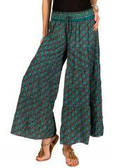 Pantalon d'été bleu look Bohème et Original Augustin 292665