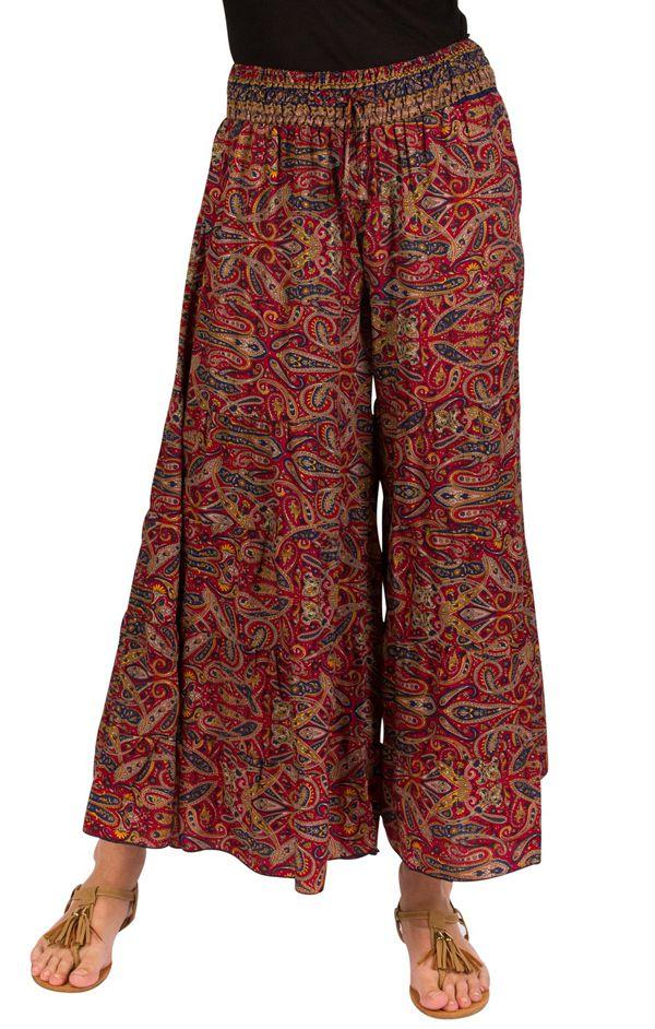 8449893dc6cee Pantalon d été bordeaux look Bohème et Ethnique Augustin 292623. Loading  zoom