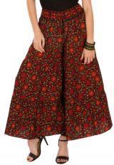 Pantalon d'été bordeaux look Bohème et Original Augustin 292671