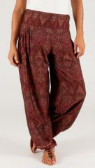Pantalon d'été Ethnique Bordeaux Large et Fluide Flavien 287075