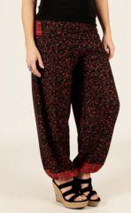 Pantalon d'été Ethnique Large et Fluide Flavien Noir 287073