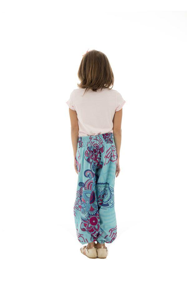 Pantalon d'été fantaisie coupe droite smocké au dos Perla 294645