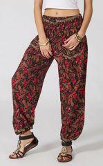 Pantalon d'été Fluide et Original Sheim à Paisleys Noir 287100
