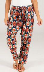 Pantalon d'été forme Cigarette Ethnique et Géométrique Callo 287035