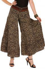 Pantalon d'été marron look Bohème et Original Augustin 292657
