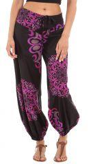 Pantalon d'été Noir pour Femme Ethnique et Original Diego 281275