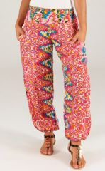 Pantalon d'été Original et Coloré Kannan Rose 283503