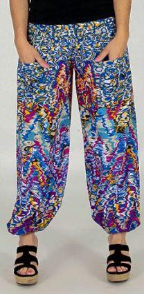 Pantalon d'été pour Femme Ample et Agréable Florazi Bleu 277749