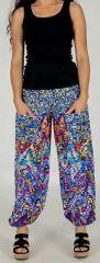 Pantalon d'été pour Femme Ample et Agréable Florazi Bleu 277750