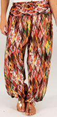 Pantalon d'été pour femme Ethnique et Bouffant Khan Orange 277784