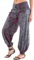 Pantalon d'été pour Femme Ethnique et Original Diego Gris 281272