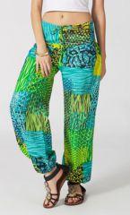 Pantalon d'été pour Femme Ethnique Harold Anis et Bleu 287091