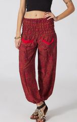 Pantalon d'été pour femme Fluide et Original Sheim Rouge 287097