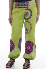 Pantalon d'été pour femme fluide imprimé et coloré Nathan 311890