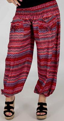 Pantalon d'été pour Femme Large et Confortable Balzac Rouge 277740