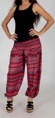 Pantalon d'été pour Femme Large et Confortable Balzac Rouge 277741