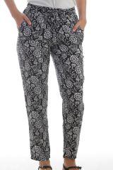 Pantalon d'été pour femme Léger Original et Ethnique Fabio Noir 297616