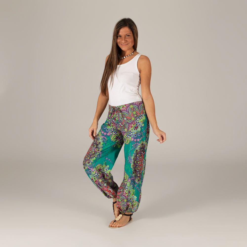 pantalon d 39 t pour femme original et color badoli vert. Black Bedroom Furniture Sets. Home Design Ideas