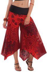 Pantalon d'été pour Femme Original et Coloré Edouard Bordeaux 281394