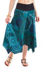 Pantalon d'été pour Femme Original et Coloré Vert Edouard 281400