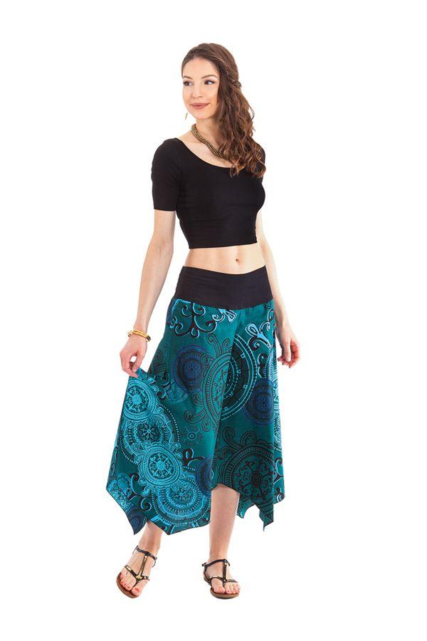 pantalon d ete pour femme original et colore vert edouard. Black Bedroom Furniture Sets. Home Design Ideas