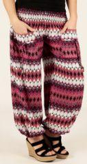 Pantalon d'été pour Femme Original et Large Bastia Rose 277733