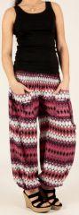 Pantalon d'été pour Femme Original et Large Bastia Rose 277734