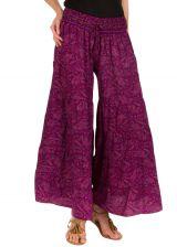 Pantalon d'été prune look Bohème et Ethnique Augustin 292653