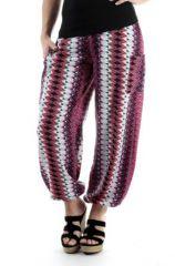 Pantalon d'été Rose pour Femme Ethnique et Fluide Capri 287070