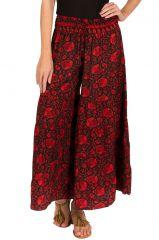 Pantalon d'été rouge look Bohème et Ethnique Augustin 292618