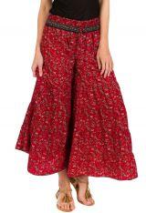 Pantalon d'été rouge look Bohème et Original Augustin 292666