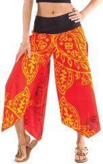 Pantalon d'été Rouge pour Femme Original et Coloré Edouard 281397
