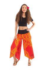 Pantalon d'été Rouge pour Femme Original et Coloré Edouard 281398